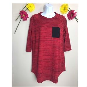 Pink Blush Red & Black T-Shirt No size tag